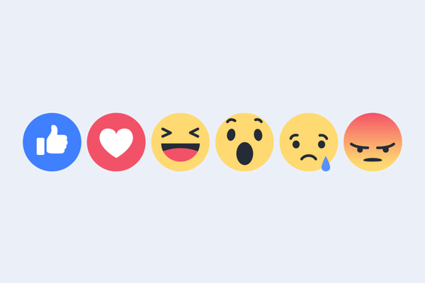 Facebook Reaction Options