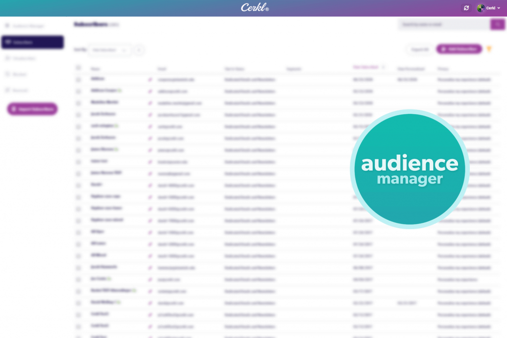 Cerkl's audience manager screenshot and icon