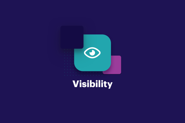 Internal communications visibility icon graphic