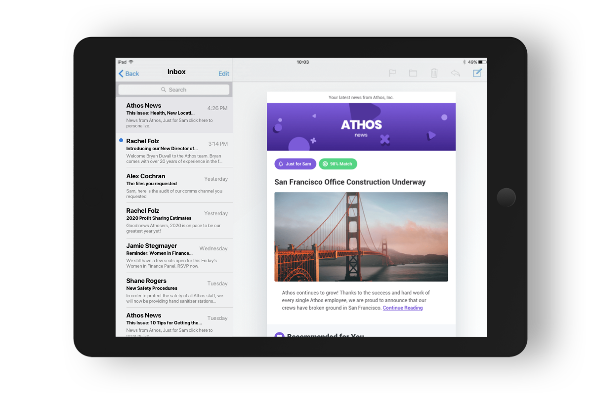 Personalized Employee Newsletters