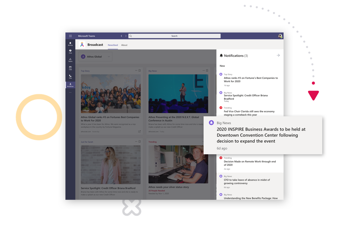 Distribute Internal Communications Directly to Microsoft Teams, Distribute Directly to Microsoft Teams, Internal Communications Channels Microsoft Teams, Broadcast Premier, Broadcast Ultimate