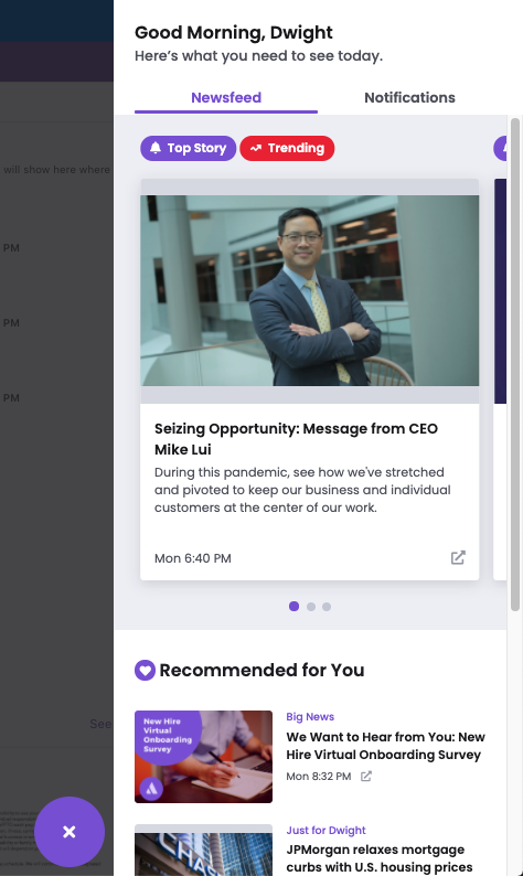 It's not enough to just build an intranet. Internal Communicators must build an engaging experience that'll keep employees returning. You can do that with Cerkl Broadcast.