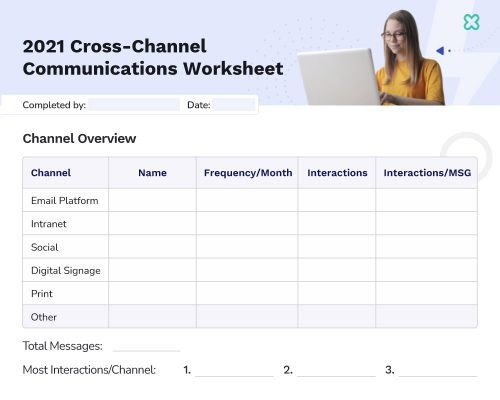 2021 Cross Channel Internal Comms Worksheet Preview Image