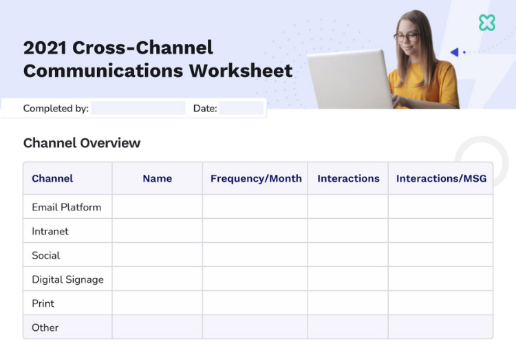 2021 Cross-Channel Internal Communications Worksheet