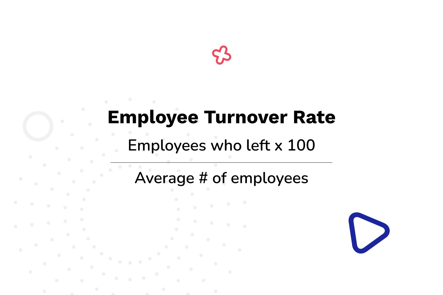 employee turnover rate equals employees who left times 100 divided by average number of employees